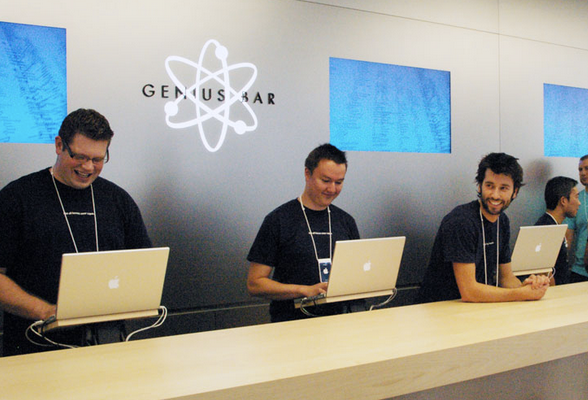 "If Apple wanted to be ""average"" and be understood by the ""average"" client, they could have named the ""Genius Bar"" their Customer Service desk!"