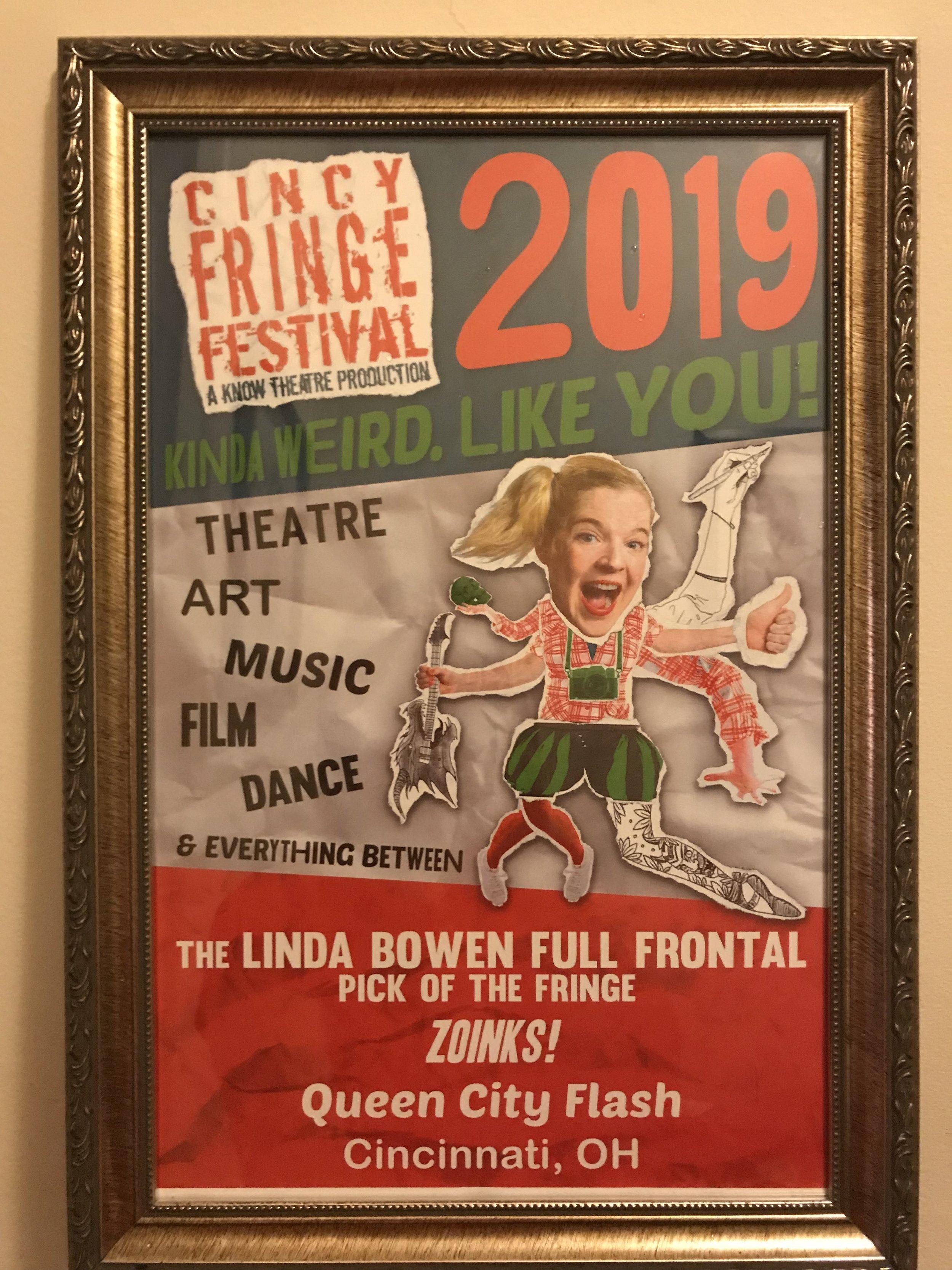 2019 WINNER of the Linda Bowen Full Frontal Pick of the Fringe.