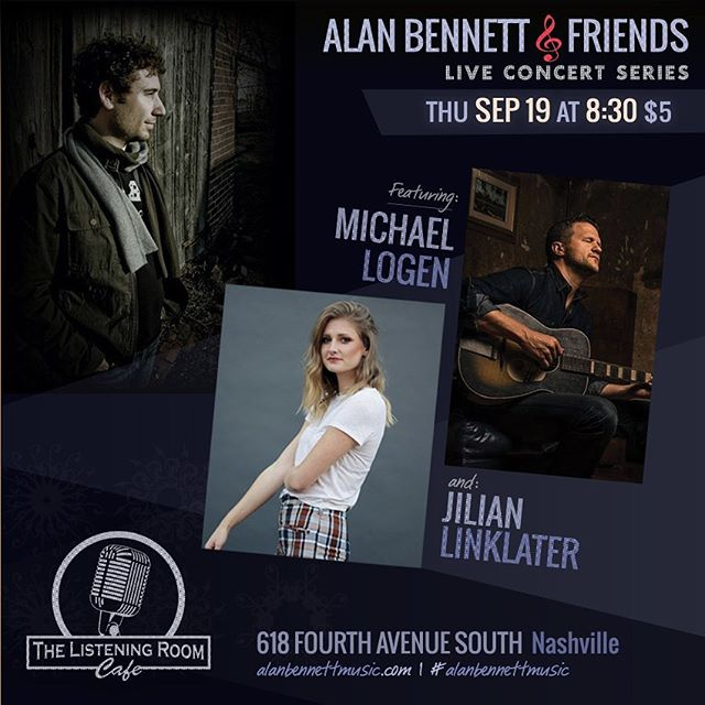 Writer's Round Tomorrow in Nashville!!!!! @listeningroomcafe with @michaellogen and @alanbennettimages !!! #listeningroom #listeningroomcafe #nashvillepop #nashvillelivemusic #nashvillesongwriter #singersongwriter #popsingersongwriter #folkpop #sobrostar #sobro #acousticpop #acousticmusic #writersround #nashvillewritersround #writersintheround