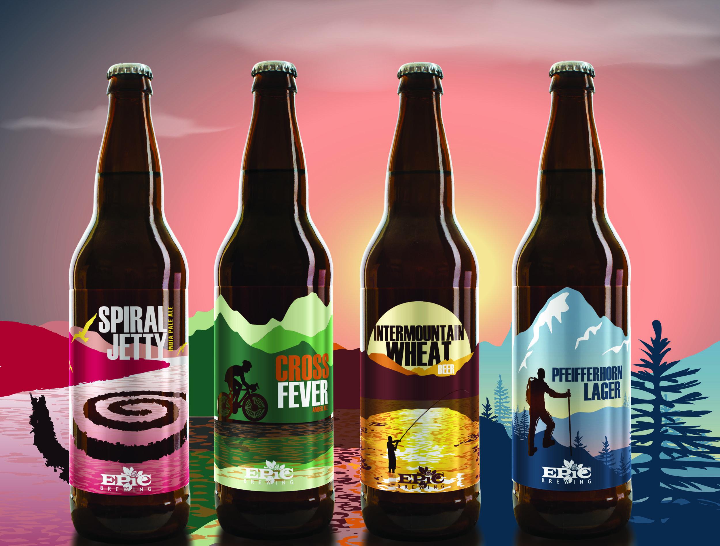 Label redesign for Utah Brand.