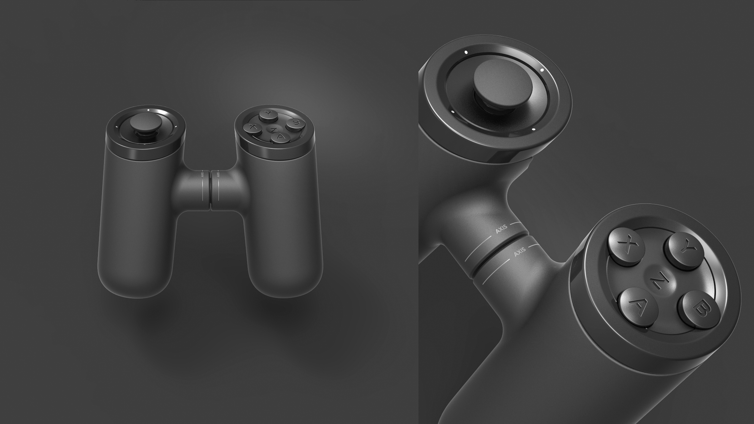 Axis Game Controller Front and Detail Shot. Copyright Creative Session