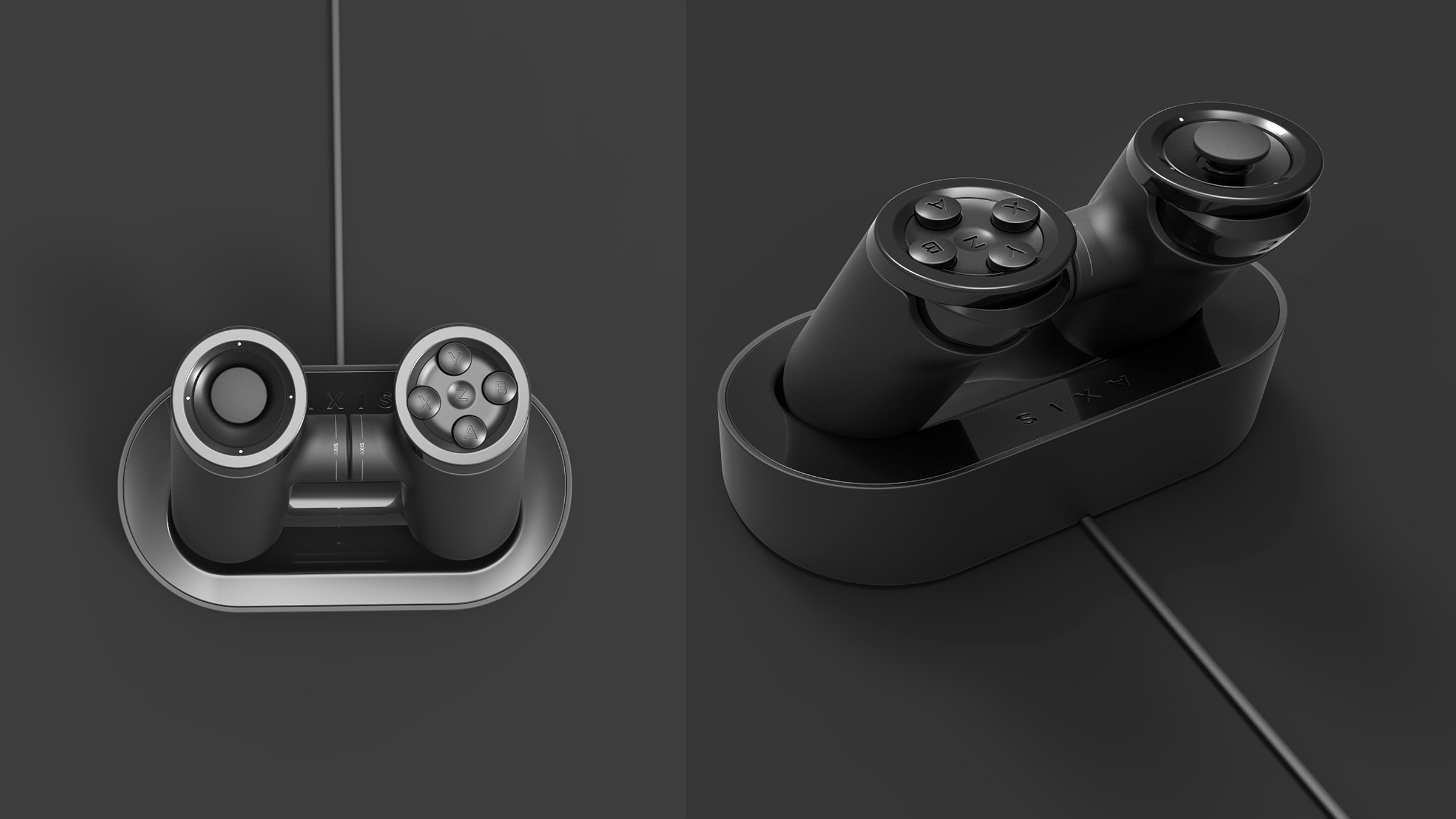 Charging dock top and rear view. Copyright Creative Session