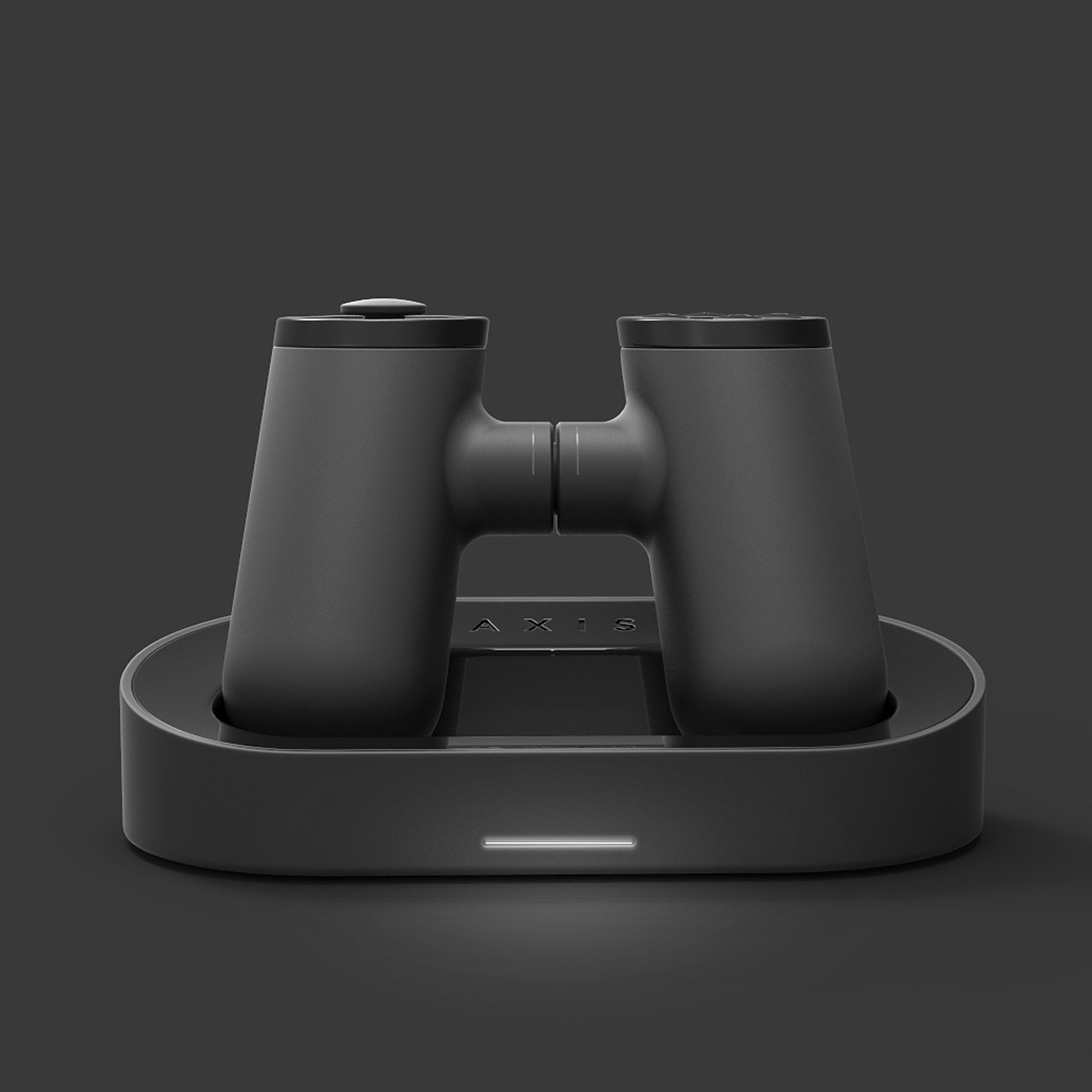 The inductive charging dock for the Axis Controller. Copyright Creative Session