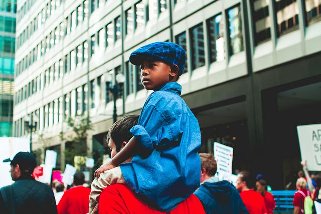 Child at CTU Rally