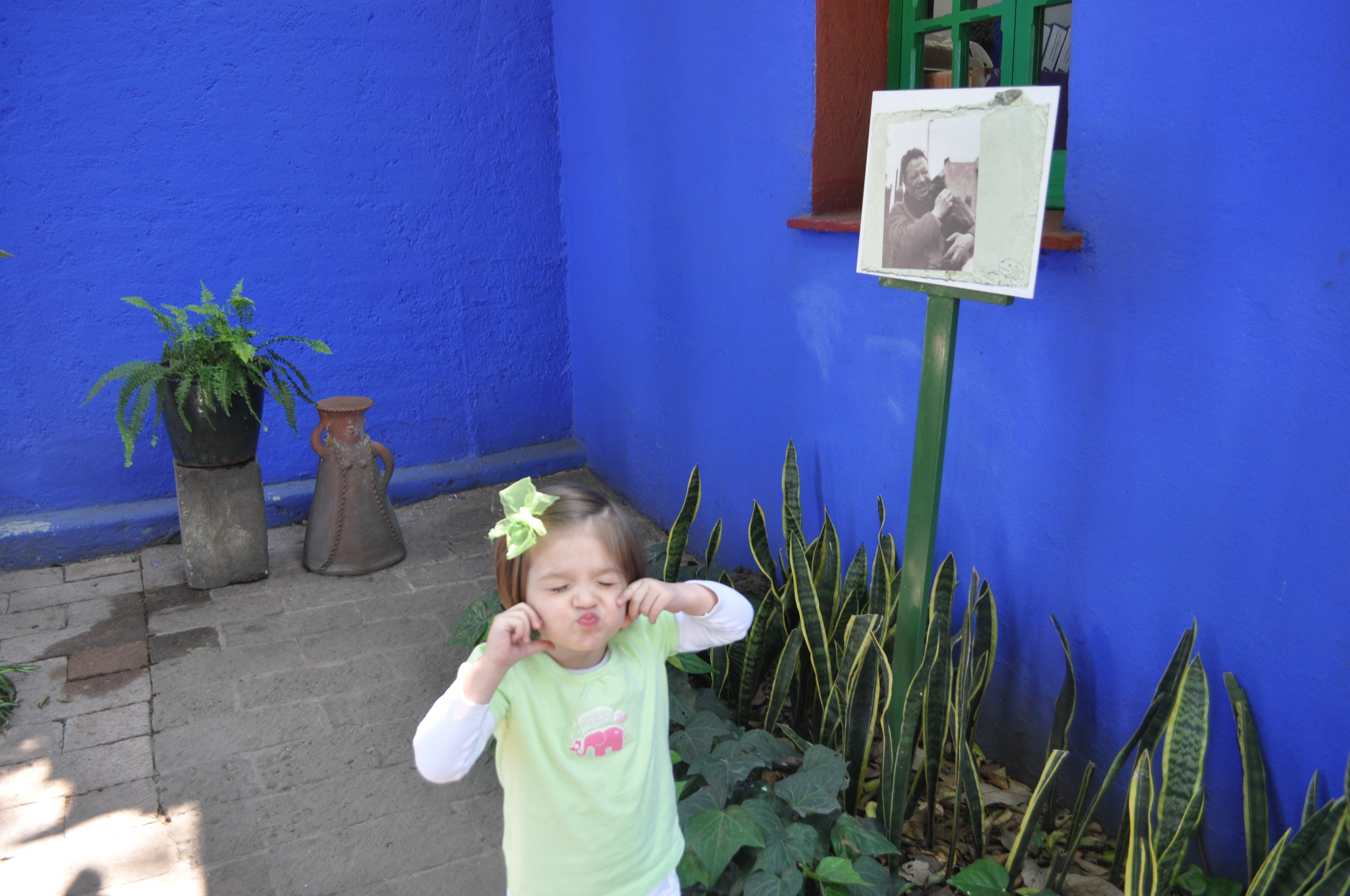 Ms S in Frida's garden