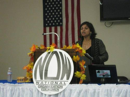 Speaking at the National Organization for Women (NOW) of Indiana, State Conference, 2013.