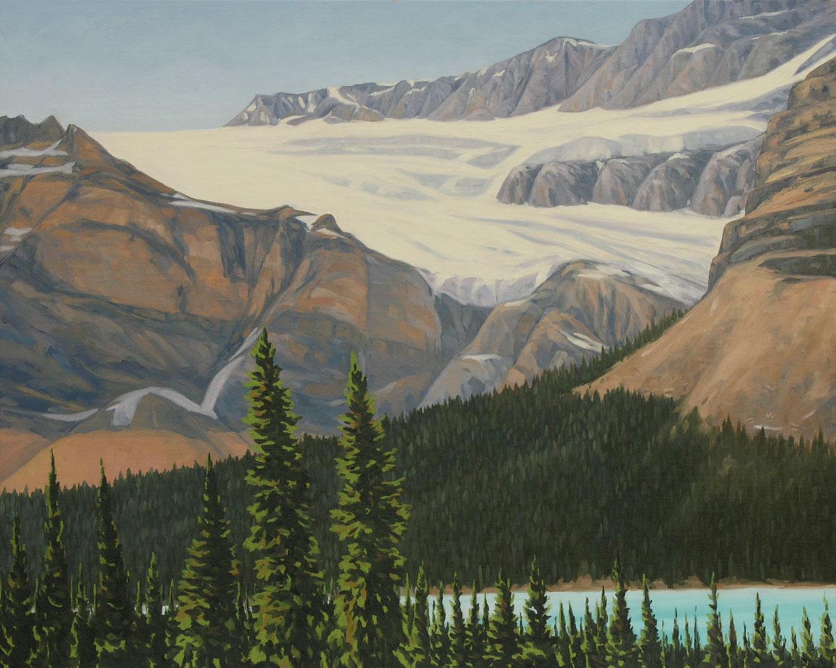 Crowfoot Glacier - 24x30 inch