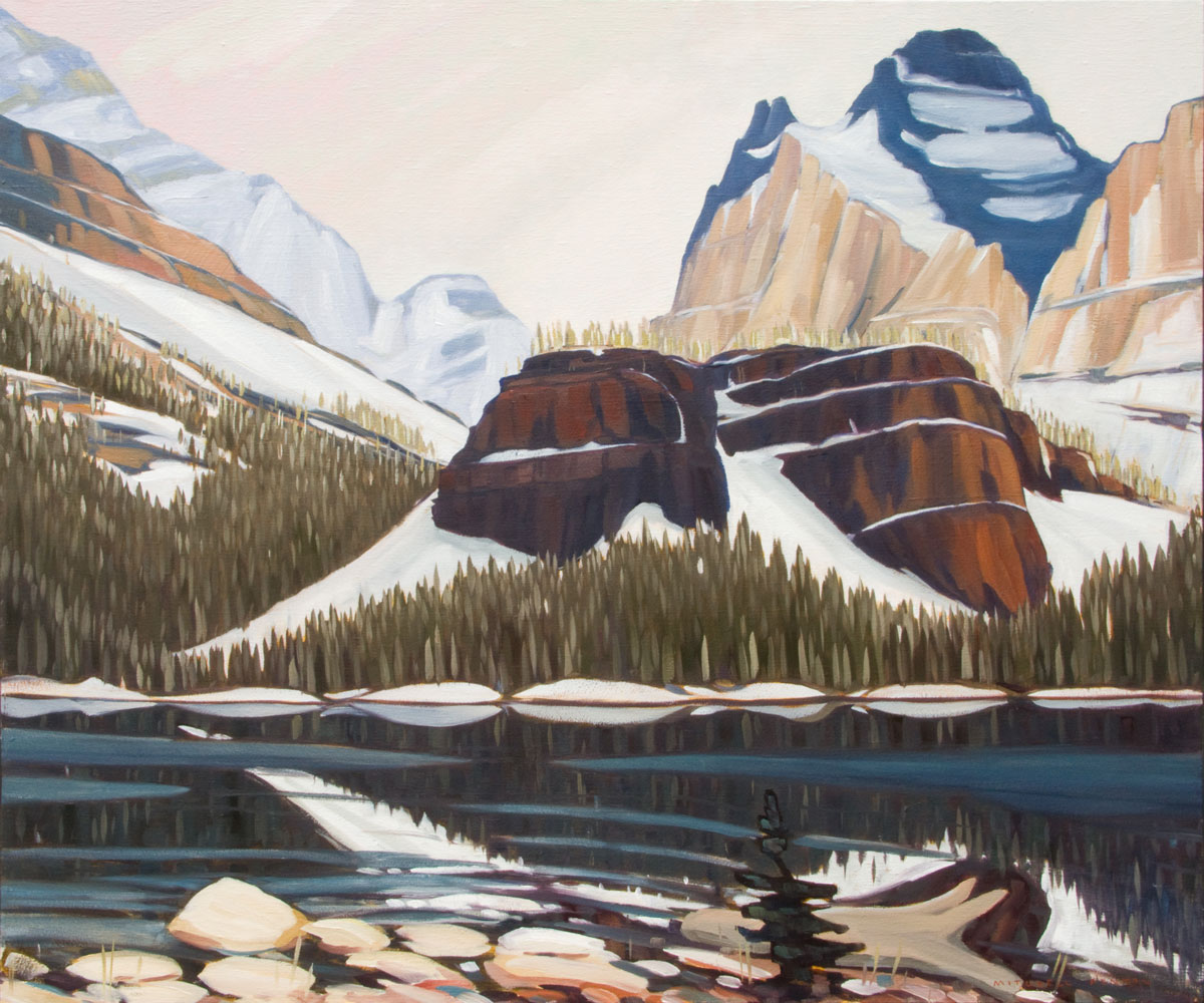 Fresh Snow Lake O'Hara - 32x38 inch