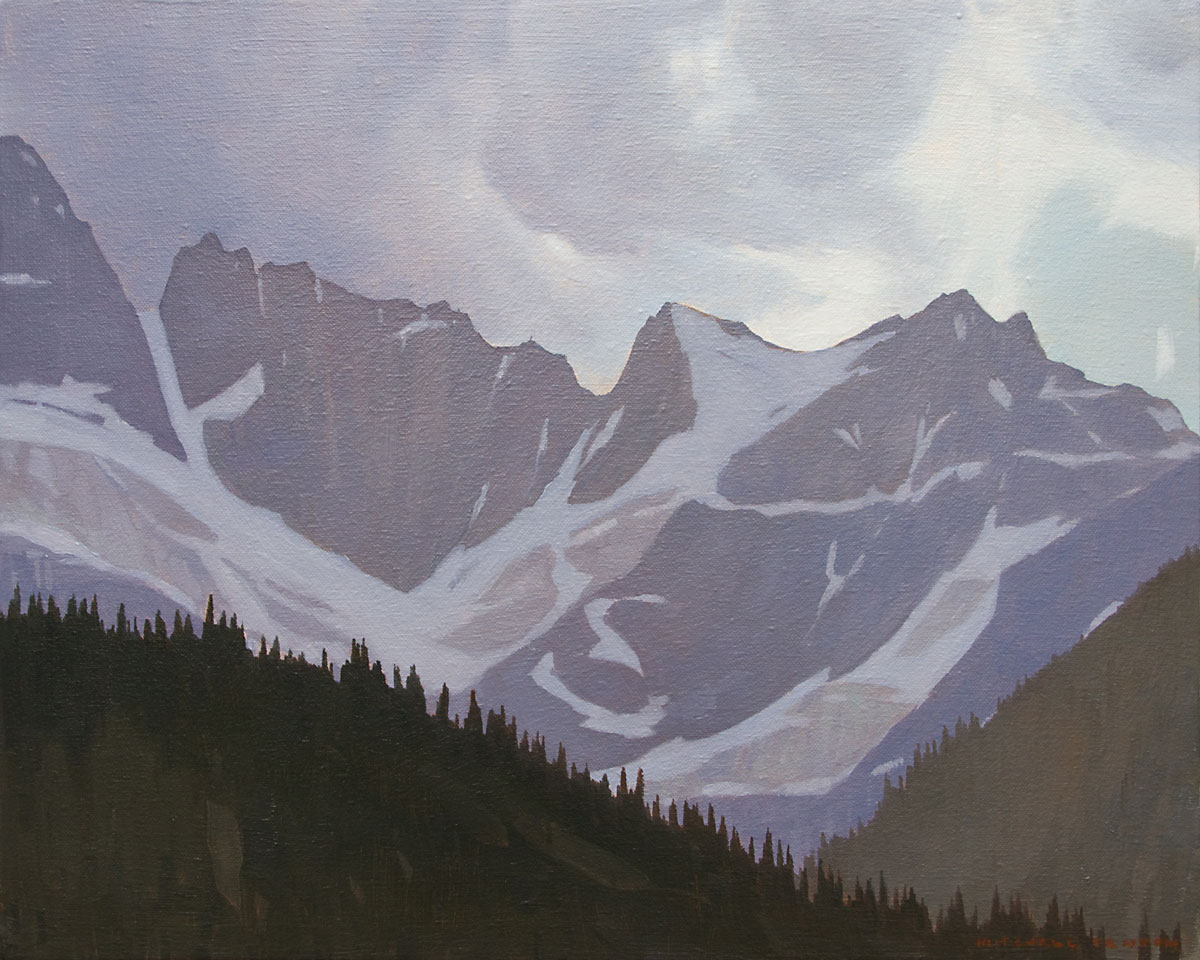 Glacier Above Waterfowl Lake - 16x20 inch