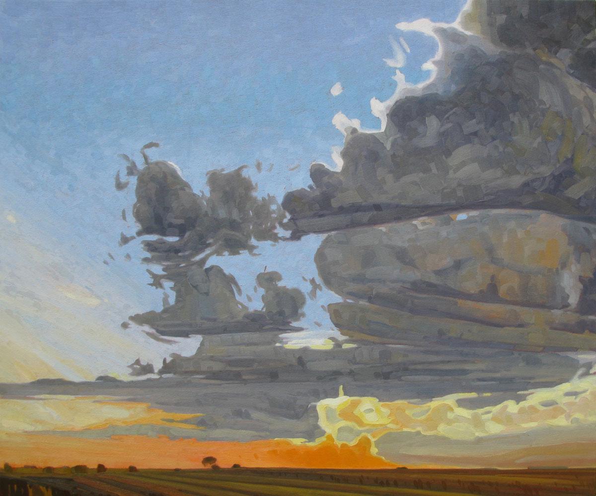 Prairie Sunset - 32x38 inch