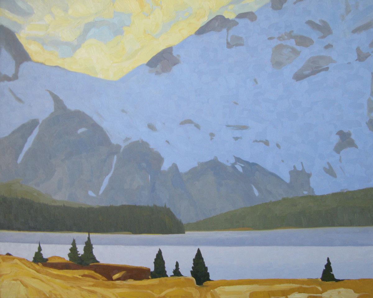 Bow Lake - 40x50 inch