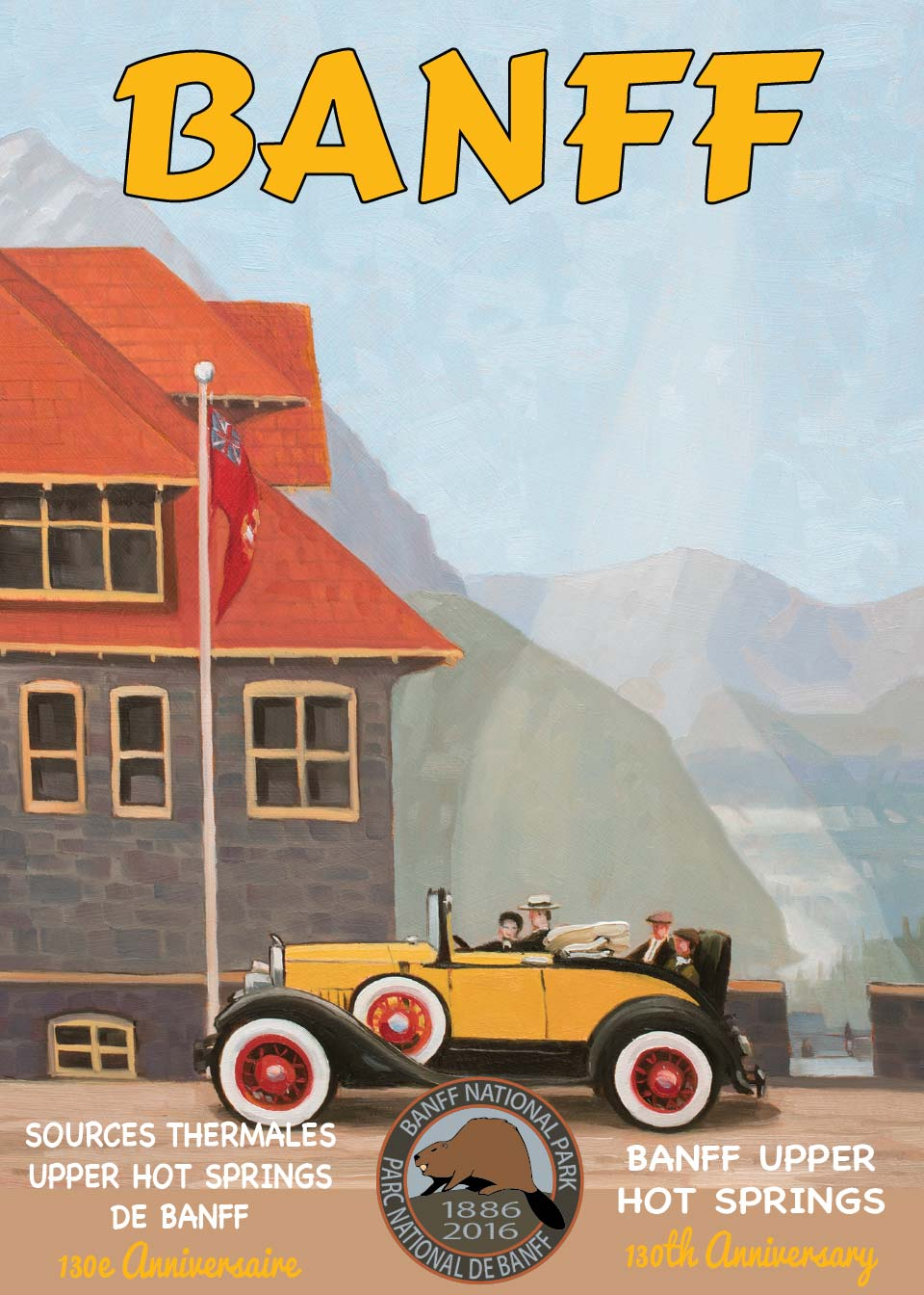 Banff Upper Hot Springs Postcard