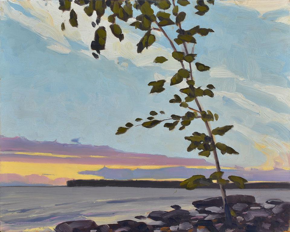 Sunset at Sandy Bay, Victoria Beach