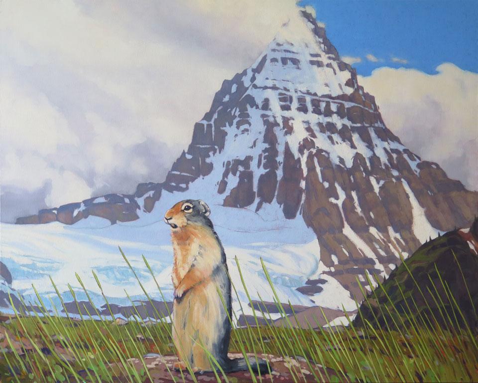 Ground Squirrel at Mount Assiniboine