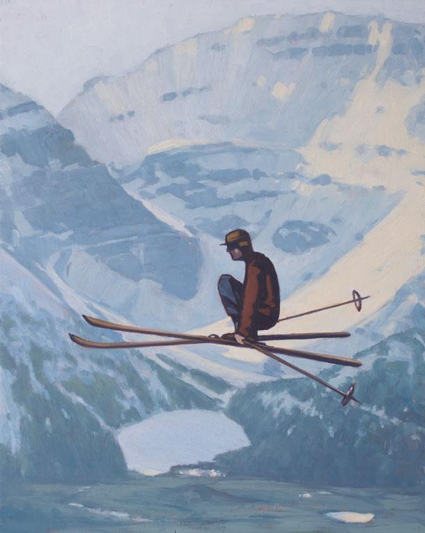 Skier Lake Louise