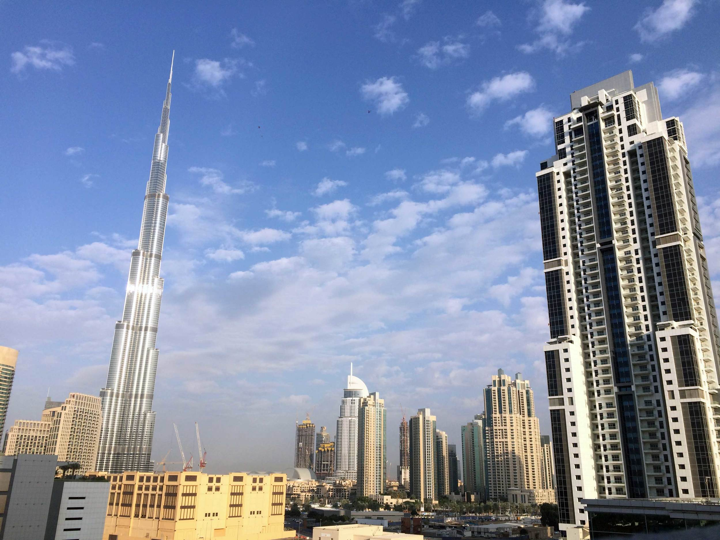 The largest man-made structure in the world - The Burj Khalifa
