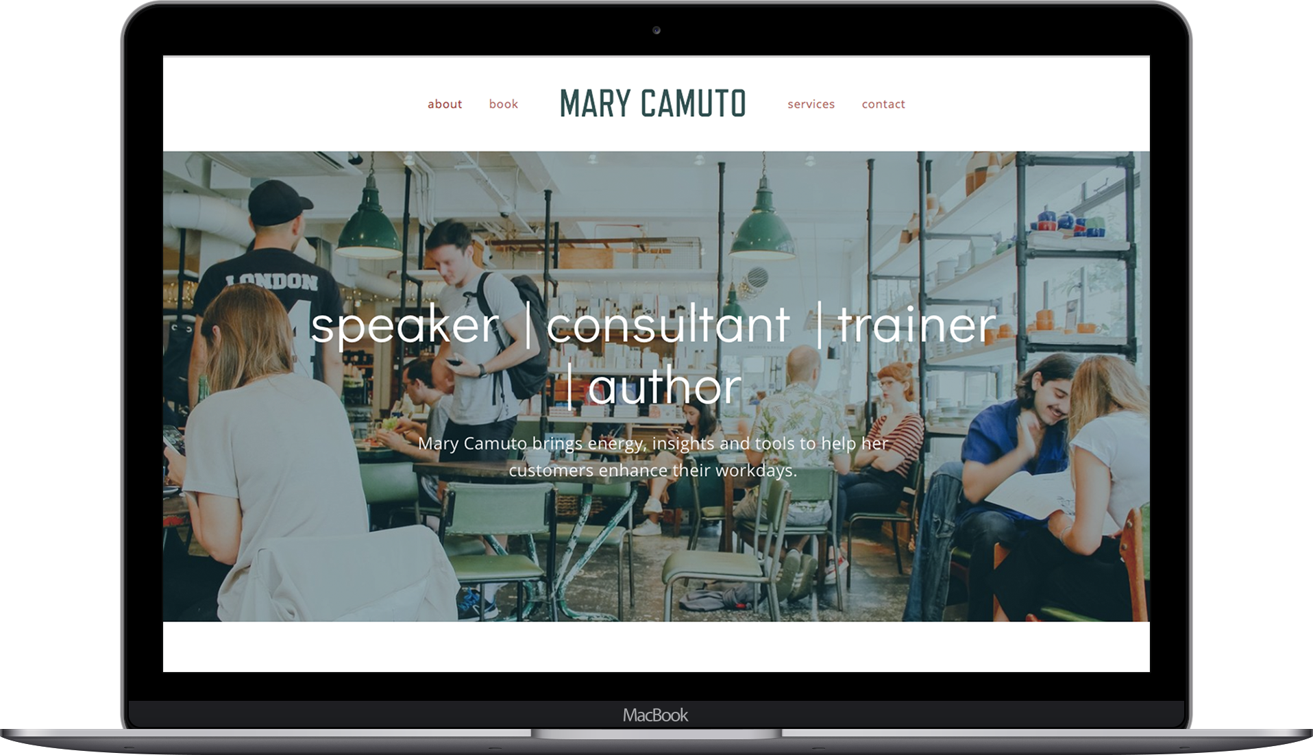 Laptop Mockup for Mary Camuto
