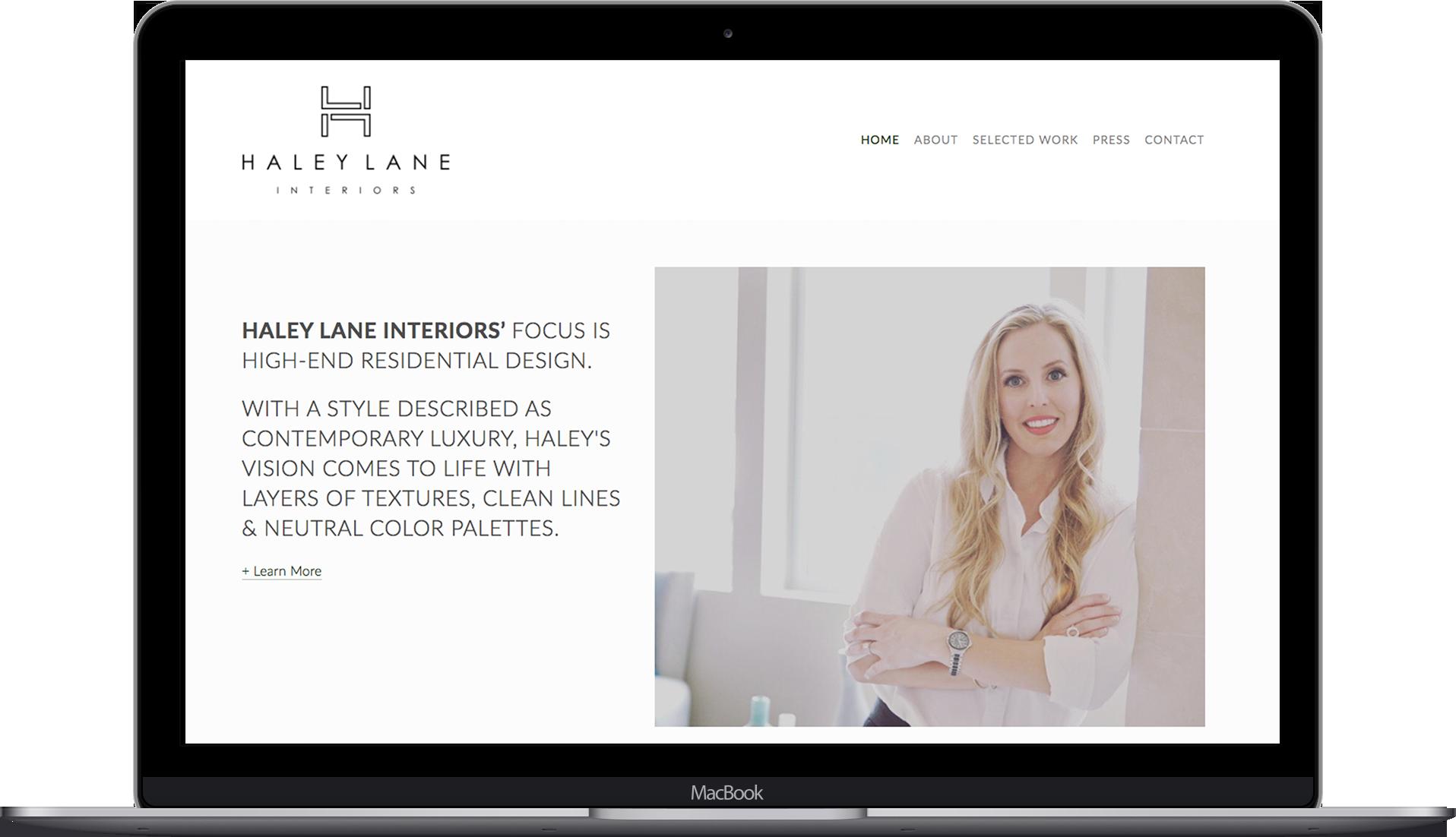 Laptop Mockup for Haley Lane