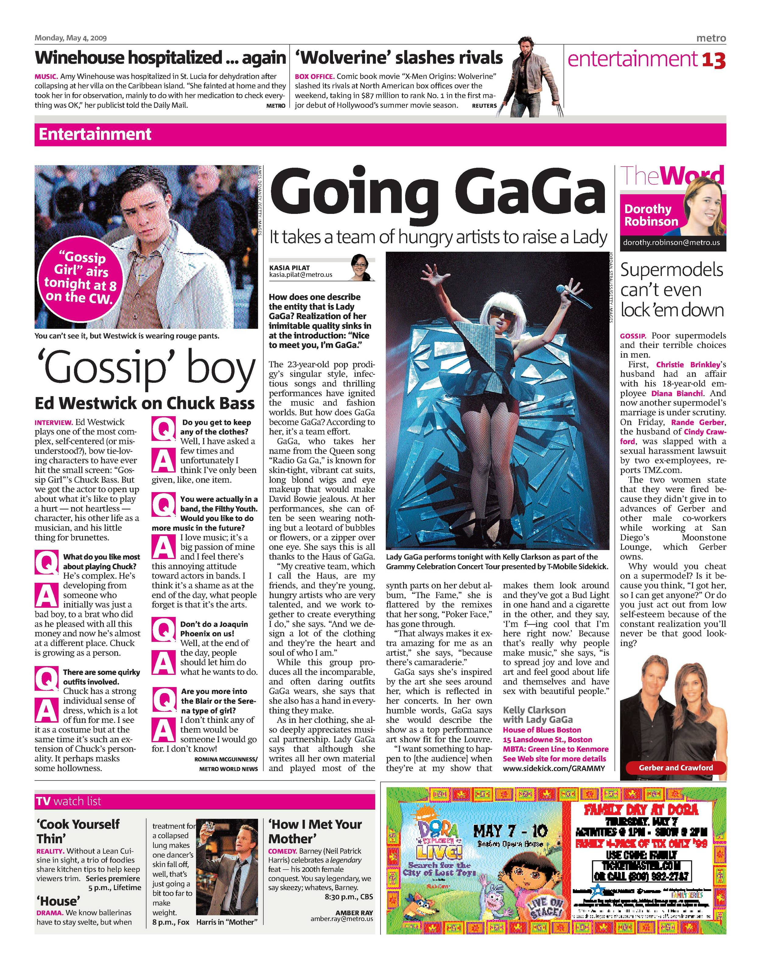 """In 2008, I interviewed   Lady Gaga  when she was just 23 years old.At that point in her career her name was still susceptible to egregious capitalization, as evidenced in the headline,""""Going GaGa."""""""