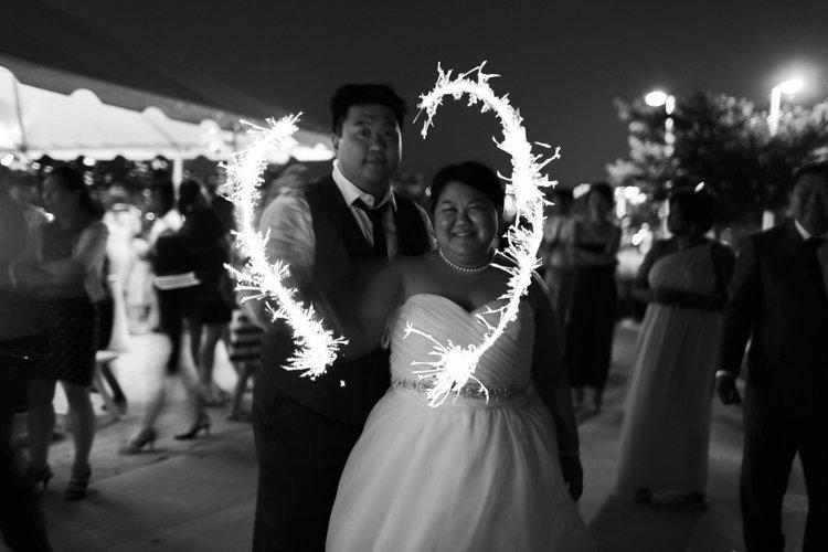 Dan & Bora on their wedding day.