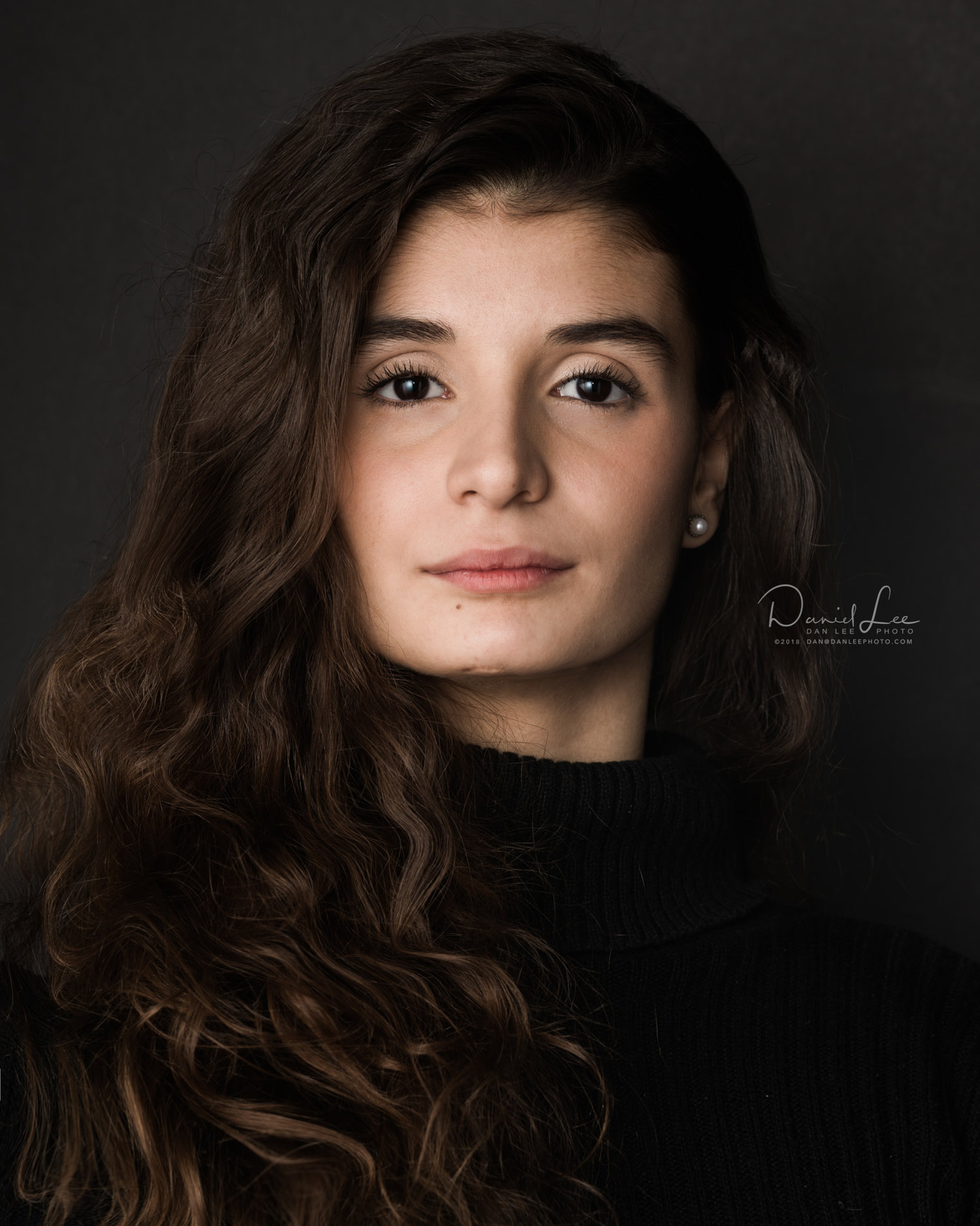 Manoela Leopoldino, Dancer, Joffrey Ballet School. Headshot by Daniel Lee.