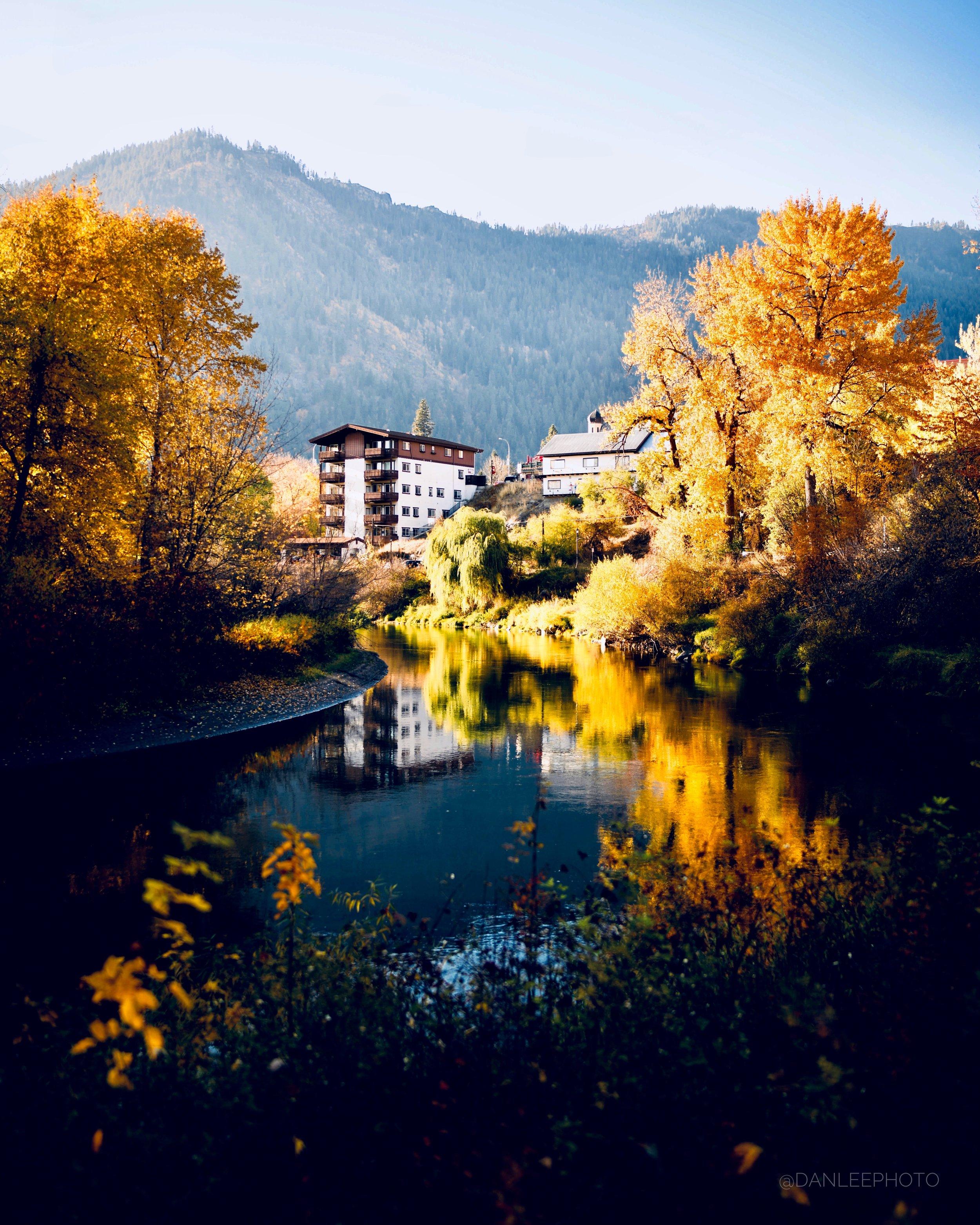 An autumn afternoon in Leavenworth, WA. Photo by Daniel Lee.