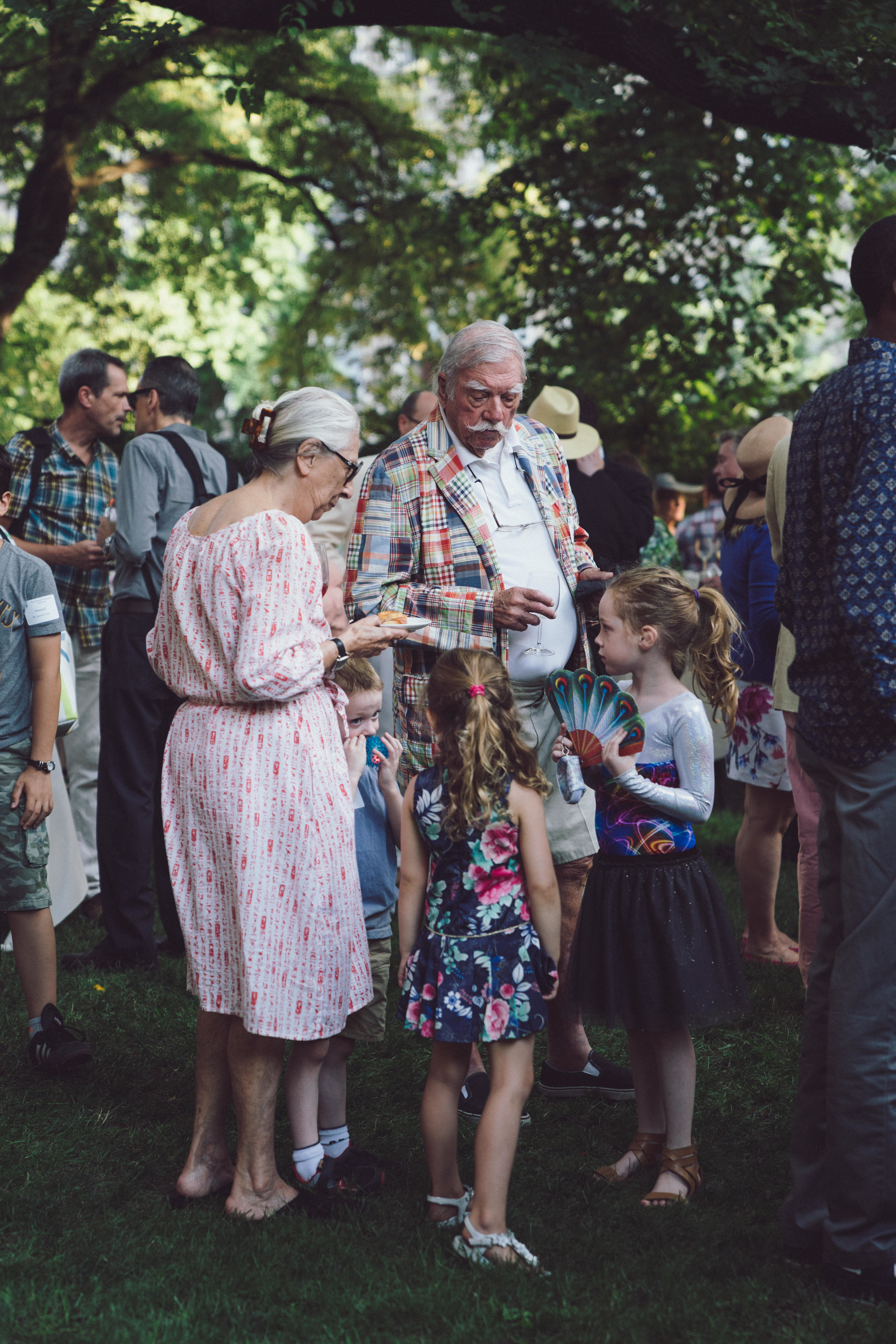 Attendees of The General Seminary's Annual Garden Party. Photo by Daniel Lee