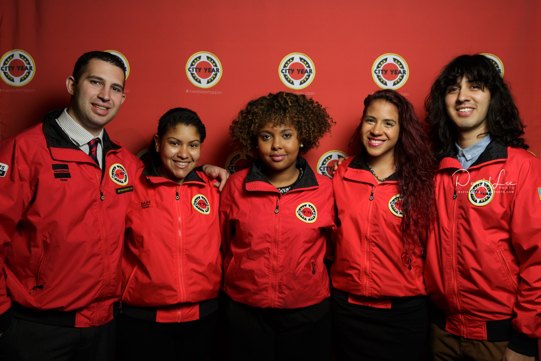 Senior AmeriCorps Members serving at City Year New York taken during CYNY's Annual Associate Board Member Fundraiser in Studio 8H at NBC Studios. Photo by Daniel Lee.