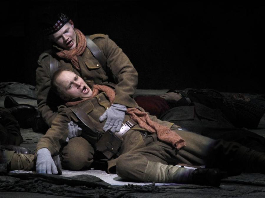 As William Dale in  Silent Night,  with John Robert Lindsay as Jonathan Dale. Minnesota Opera