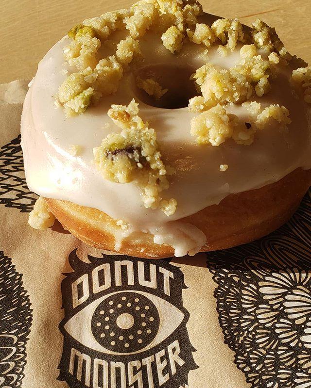 Donut Monster in Hamilton, ON takes it to the next level with this Halva-flavoured doughnut.  #DoughnutTourOfCanada #hamont