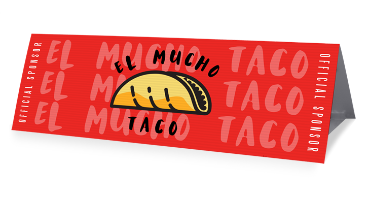 el mucho taco stadium sponsorship banner example from campus box