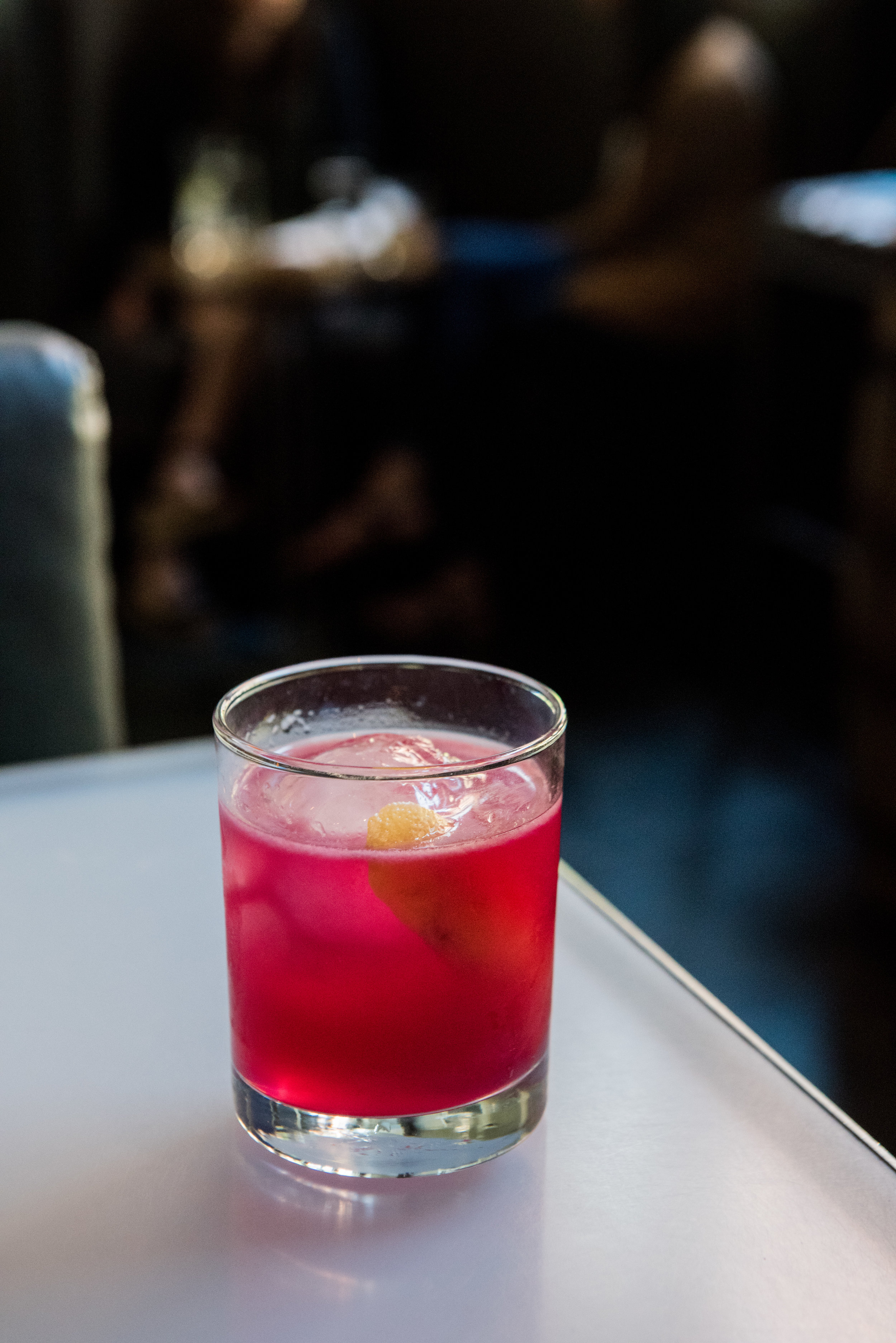 Rasputin's Eye - CH Vodka, CH Rum, Beet, Hibiscus, Lemongrass, Serrano Pepper, Fennel, Lemon(Tangy and spicy)