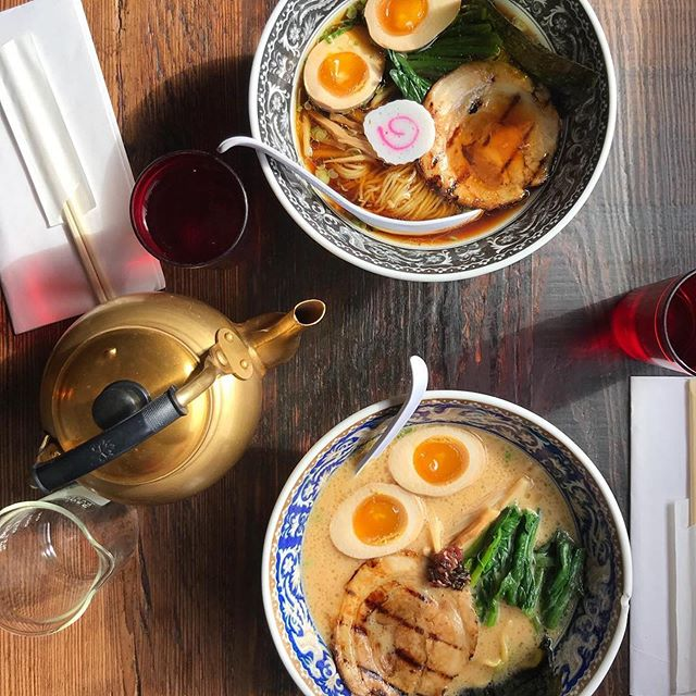 Throwback to our old bowls! It's starting to cool down, so warm up with @nakamuranyc 's light and clean Torigara chicken or rich and creamy Tontoro pork ramens this fall!