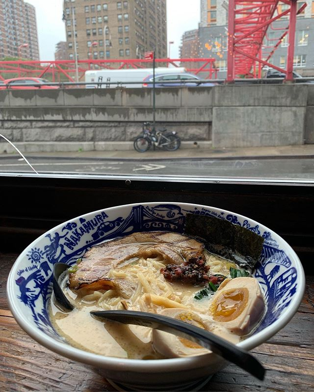 It's tontoro weather… hide from the rain with a rich and creamy pork-chicken #ramen!! Ajitama egg is recommended but not required.