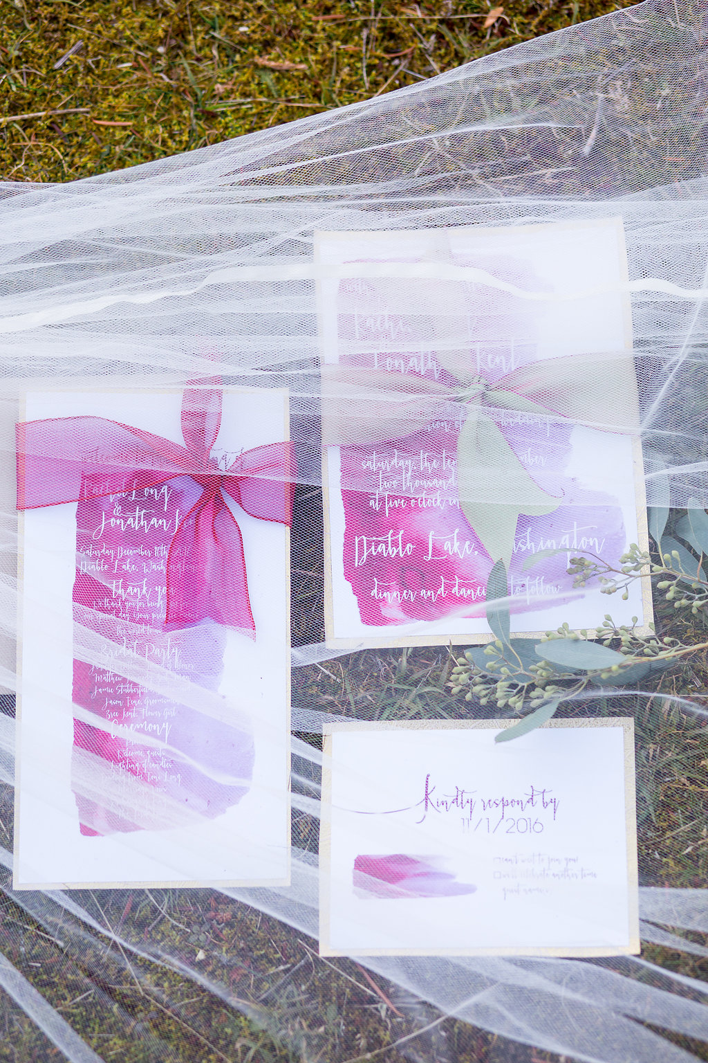 Invitation Suite by A Girl Friday Design; photo by Solie Designs