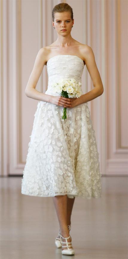 Oscar de la Renta  Reception Dress