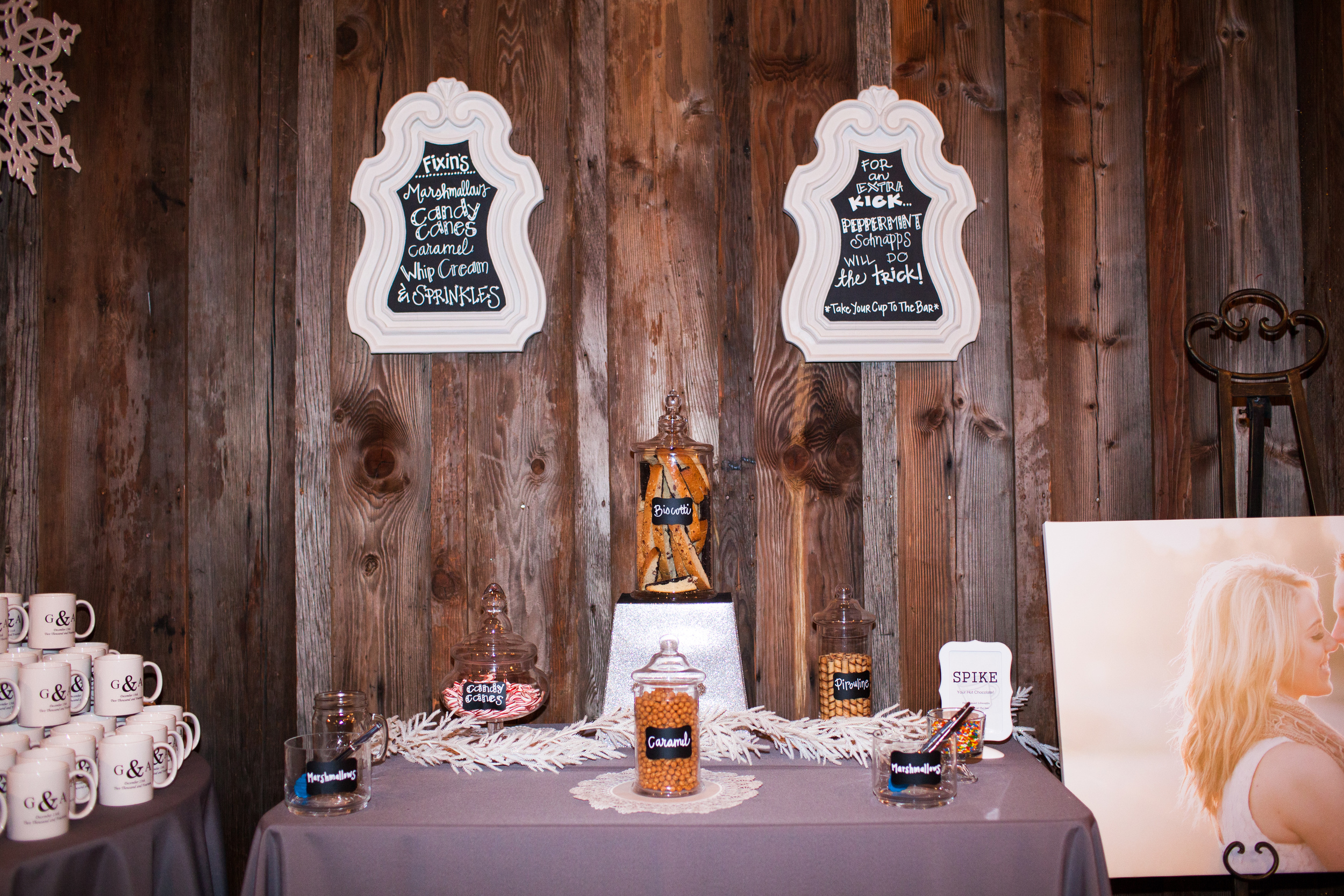 Hot Chocolate Bar. Photo by Corliss Photography