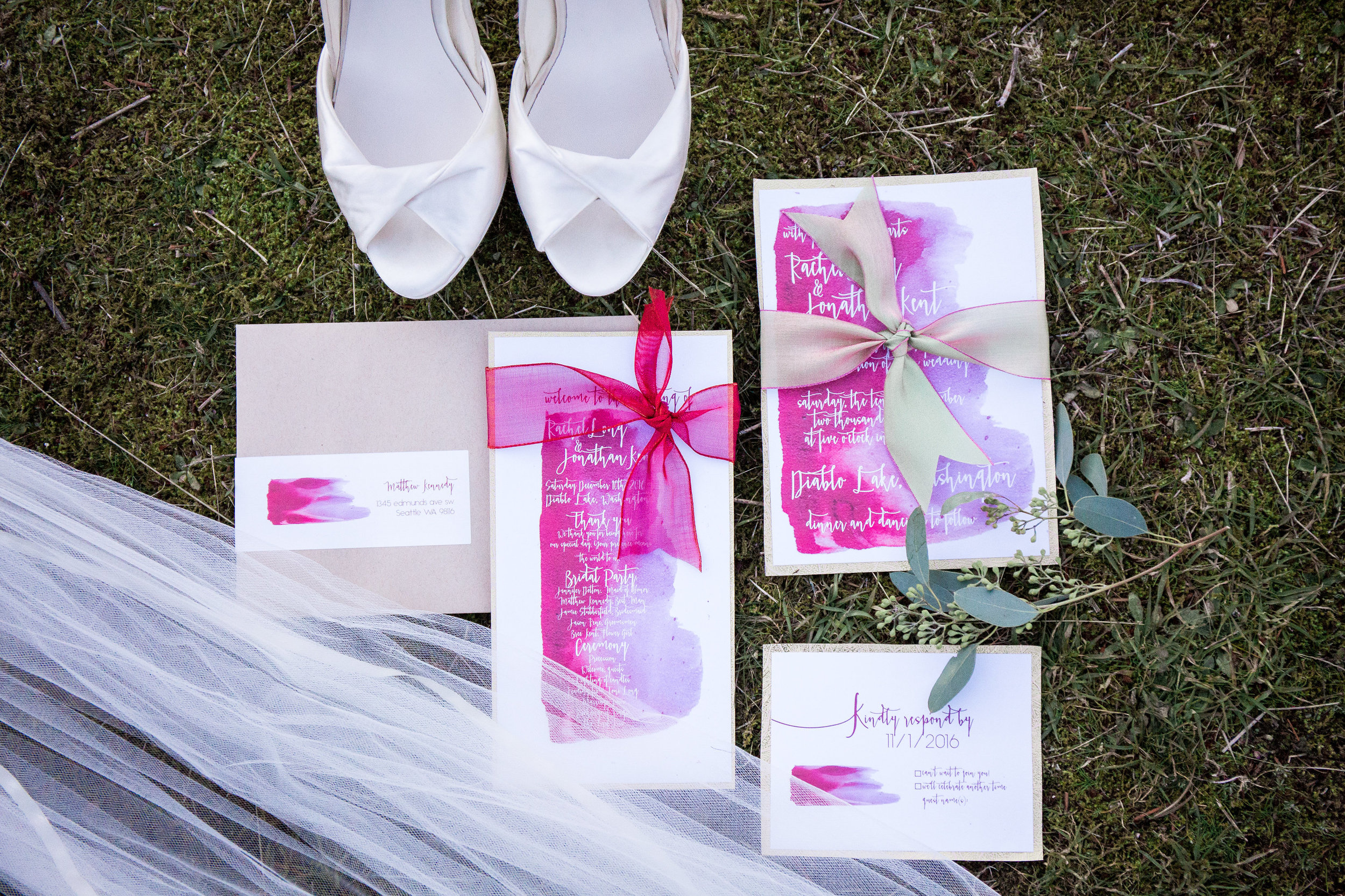 Invitation Suite by A Girl Friday Studio  Photo by Solie Designs