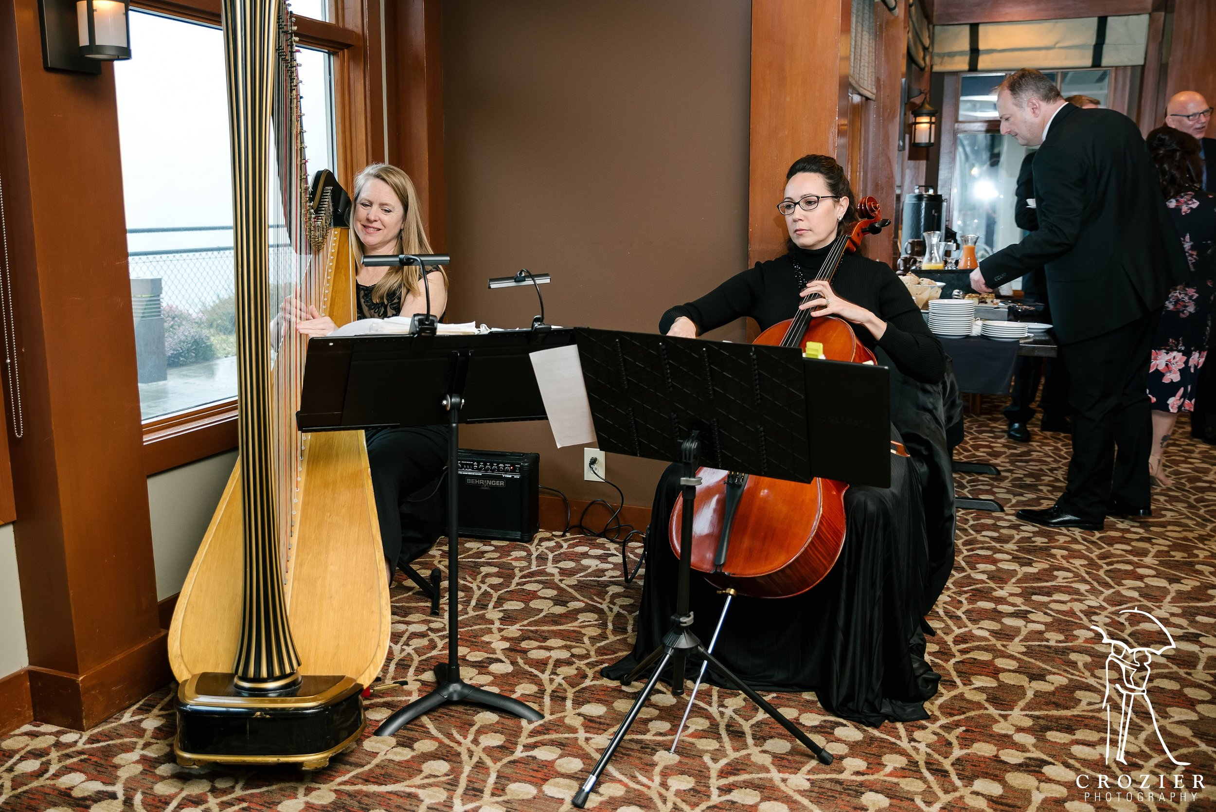 Harpist Susan W. Haas and Cellist Nichole Williams. Photo by Crozier Photography
