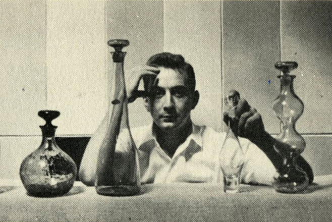 Wayne Husted, early in his career as Design Director at Blenko Glass, 1952