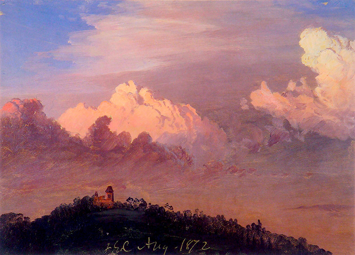 Clouds Over Olana  (1872) ,  by Frederic Church. Olana State Historic Site.