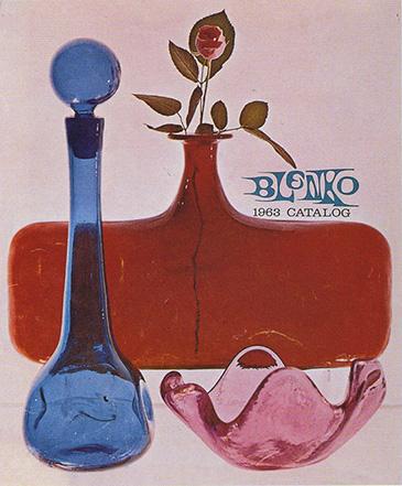 1963 Blenko catalog featuring a rose petal bowl.