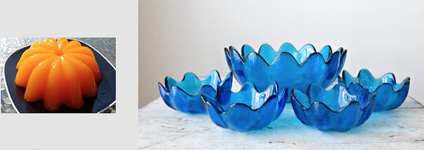 The origin of one of Blenko's best sellers, the petal bowl, was a jello mold that I found at Milton's hardware store.