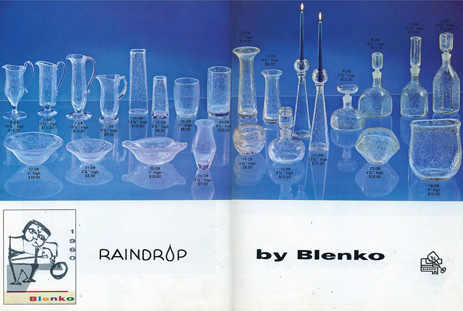 Spread from the 1960 catalog featuring the new Raindrop line.