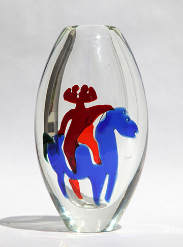 """One of my """"Horse and Rider"""" vases."""