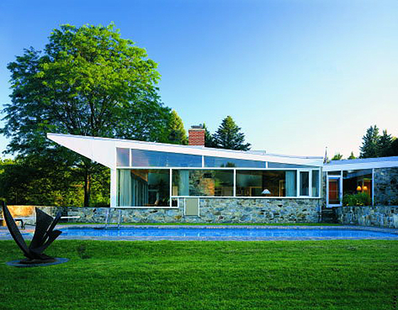 "The Robinson House in Williamstown MA, designed by Marcel Breuer in 1946, has a ""butterfly roof"" similar to the roof of the McCord House that I helped to build."