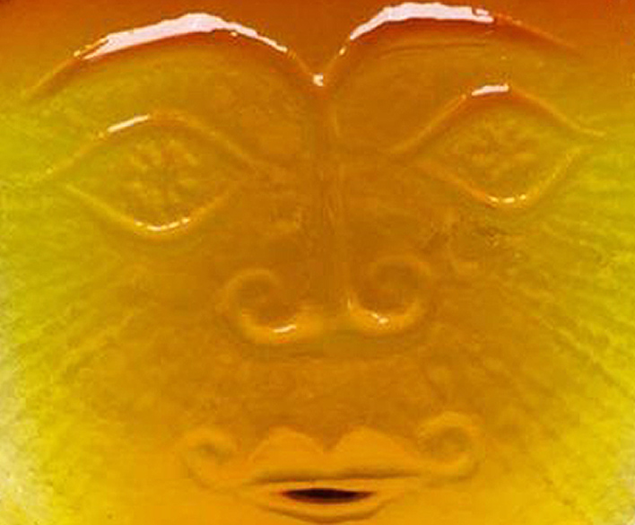 Close up detail of my 1962 sun face decanter.