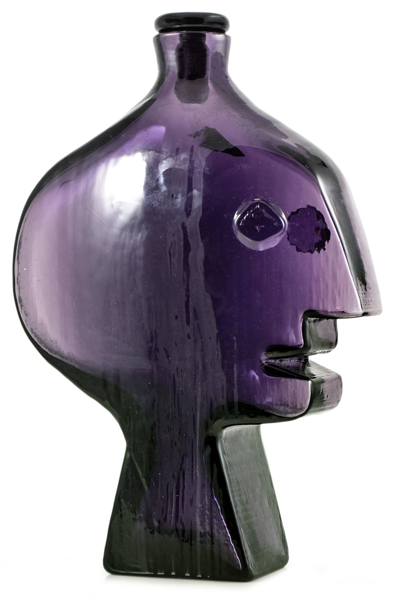 The purple Head Decanter that was recently sold at auction in London.