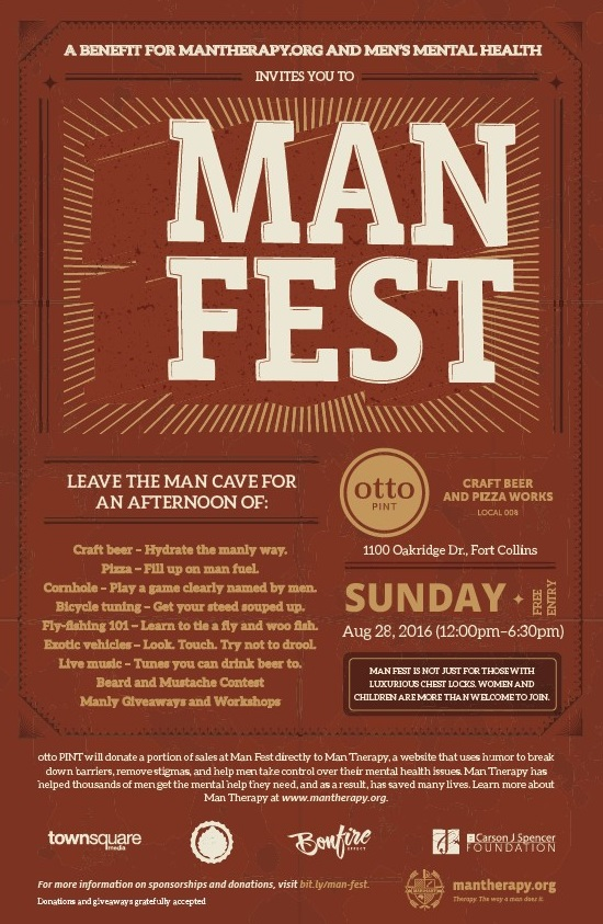 Look for this ruggedly handsome poster all over town and make sure you show up to MAN FEST!