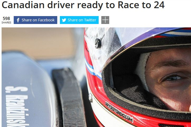 Canadian Driver Ready for Race to 24 - March 8, 2015